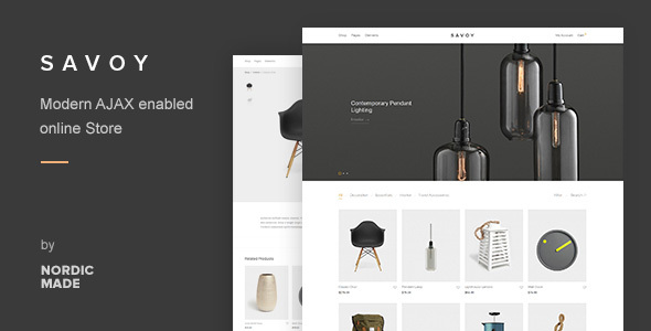 Download Savoy v2.3.6 - Minimalist AJAX WooCommerce Theme