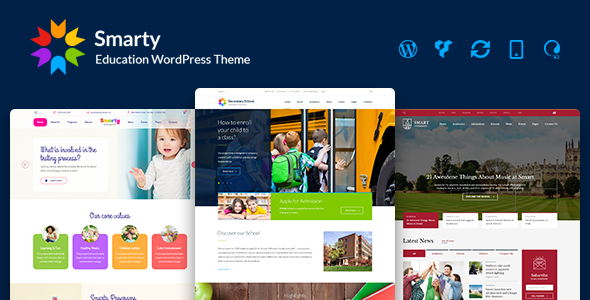 Smarty v3.3.2 - Education WordPress Theme for Kindergarten