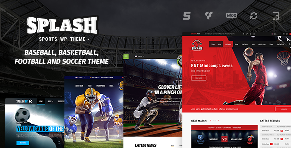 Download Splash v4.0.3 - Sport WordPress Theme nulled