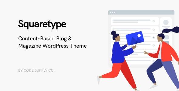 Download Squaretype v2.0.1 - Modern Blog WordPress Theme