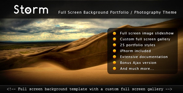 Download Storm v1.4.2 - Full Screen Background Template