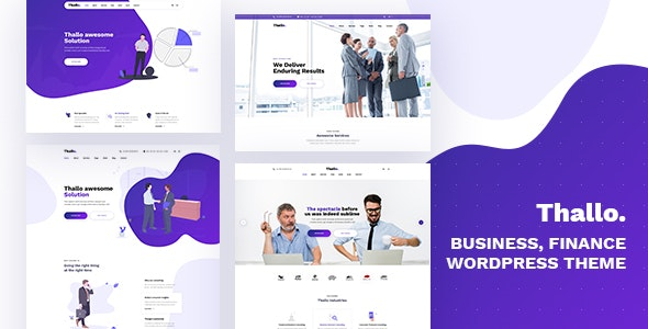 Download Thallo v1.0.2 - Consulting & Finance WordPress Theme