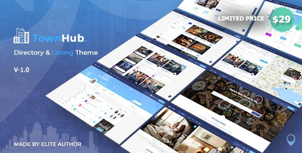 Download TownHub v1.1.6 - Directory & Listing WordPress Theme
