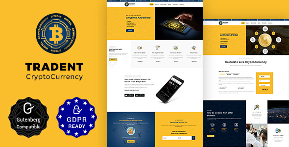 Download Tradent v1.8 - Bitcoin, Cryptocurrency Theme