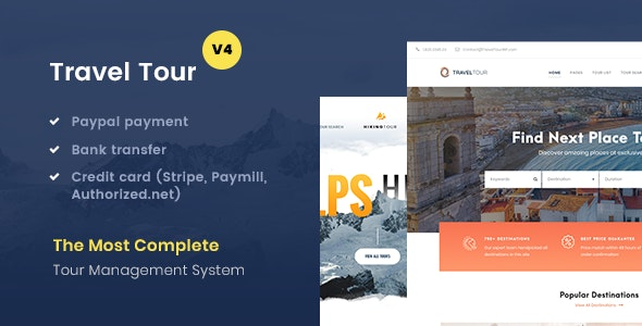 Download Travel Tour v4.1.8 - Tour Booking, Travel Booking Theme