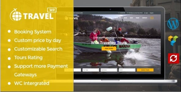 Download Travel WP v1.6.4 - Tour & Travel WordPress Theme