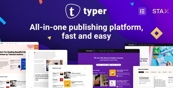 Download Typer v1.6.3 - Amazing Blog and Multi Author Publishing Theme