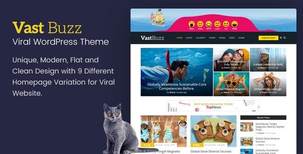Download Vast Buzz v1.1.4 - Viral Magazine WordPress Theme