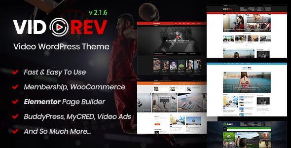 Download VidoRev v2.9.9.2 - Video WordPress Theme nulled