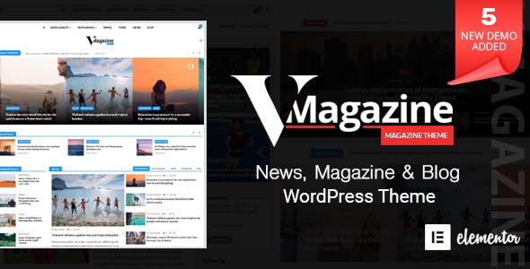 Download Vmagazine v1.1.7 - Blog, NewsPaper, Magazine Themes