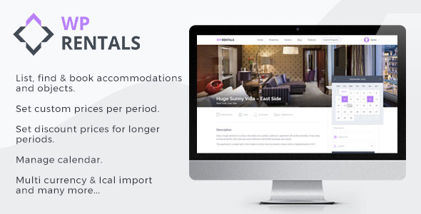 Download WP Rentals v2.8.4 - Booking Accommodation WordPress Theme nulled