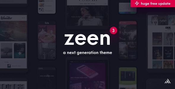 Download Zeen v3.5.0 - Next Generation Magazine WordPress
