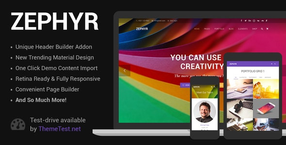Download Zephyr v7.4.2 - Material Design Theme