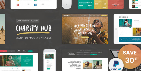 Download Charity Foundation v1.7 - Charity Hub WP Theme