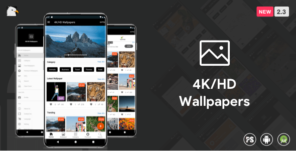 4K/HD Wallpaper Android App (Google Material Design + Admob + Firebase Push Noti + PHP Backend) v2.8