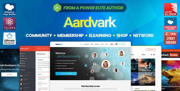 Download Aardvark v4.18 – Community, Membership, BuddyPress Theme