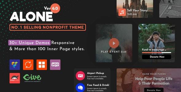 Download Alone v6.1 - Charity Multipurpose Non-profit WordPress Theme