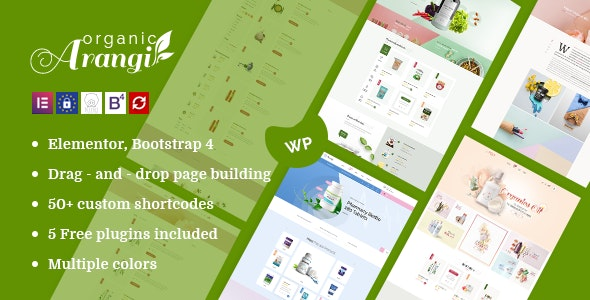 Download Arangi v1.3.4 - Organic WooCommerce WordPress Theme