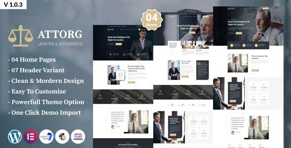 Download Attorg v1.0.3 - Attorney & Lawyer WordPress Theme