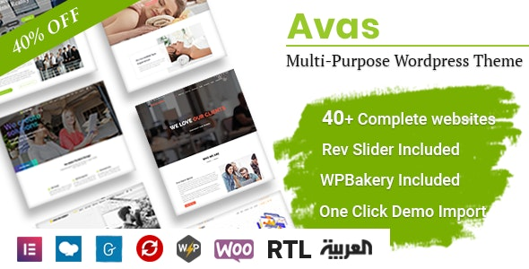 Download Avas v6.0.5 - Multi-Purpose WordPress Theme