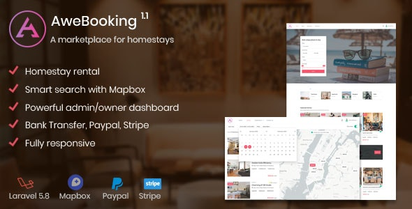 AweBooking v1.1 – A marketplace for homestays – codemafia.club