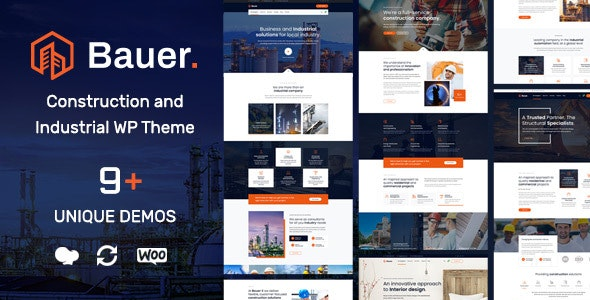 Download Bauer v1.4 - Construction and Industrial WordPress Theme