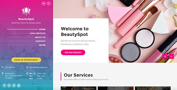 Download BeautySpot v3.3.2 - WordPress Theme for Beauty Salons