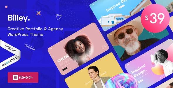Download Billey v1.0.2 - Creative Portfolio & Agency WordPress Theme