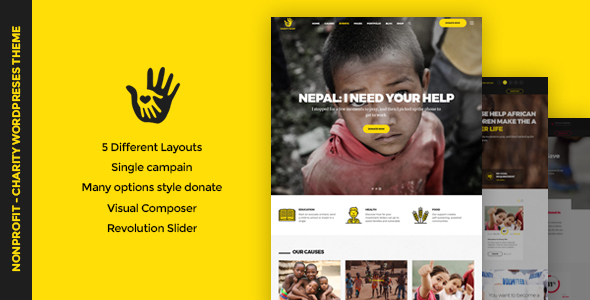 Download CharityHeart v1.7 - Charity, Crowdfunding, Nonprofit Theme