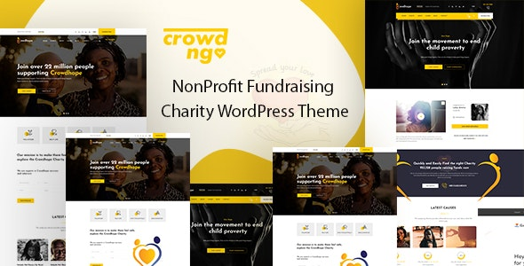 Download Crowdngo v1.0.2 - Fundraising Charity WordPress Theme