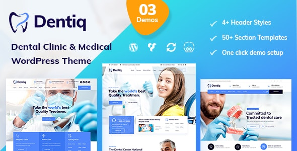 Download Dentiq v2.1 – Dental & Medical WordPress Theme