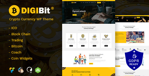 Download DigiBit v1.5 - Cryptocurrency Mining WordPress Theme