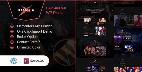 Download Domex v1.0 – Night Club WordPress Theme