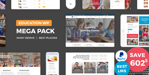 Download Education Pack v1.9 – Education Learning Theme WP