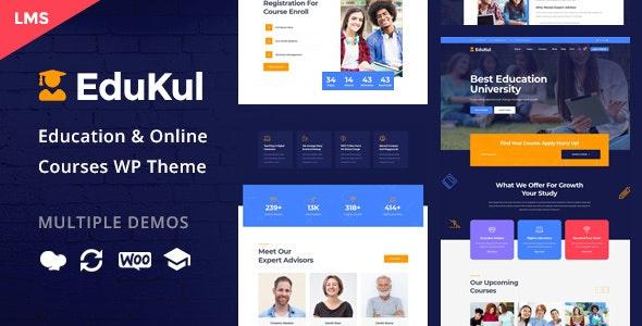 Download Edukul v1.2 - Online Courses WordPress Theme