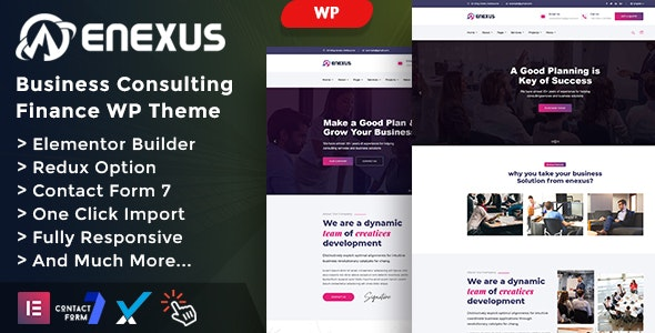 Enexus v1.0 - Consulting Business Elementor WordPress Theme