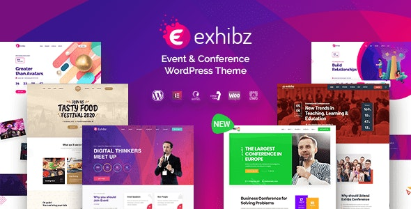 Download Exhibz v2.2.0 - Event Conference WordPress Theme