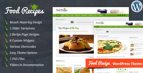Download Food Recipes v4.0.3 - Themeforest WordPress Theme