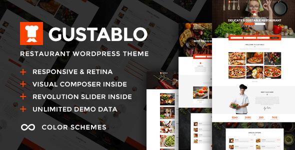 Download Gustablo v1.6 - Restaurant & Cafe Responsive Theme