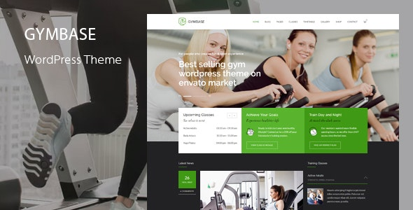 Download GymBase v13.1 - Responsive Gym Fitness WordPress Theme