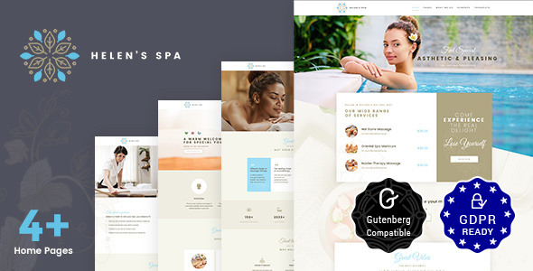 Download Helen's Spa v2.0 - Beauty Spa, Health Spa & Wellness Theme
