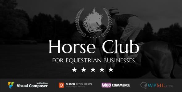 Download Horse Club v2.2 - Equestrian WordPress Theme