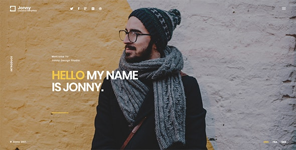 Download Jonny v1.0.7 - Personal WordPress Theme