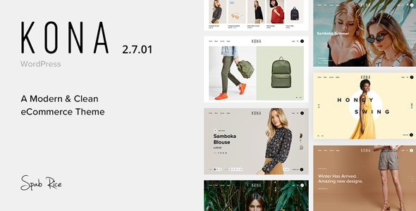 Download Kona v2.7.01 - Modern & Clean eCommerce WordPress Theme