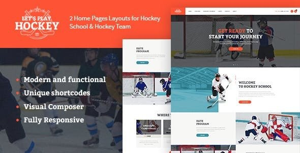 Let's Play v1.1.4 - Hockey School & Sport WordPress Theme