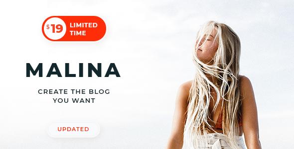 Download Malina v1.8.9 - Personal WordPress Blog Theme