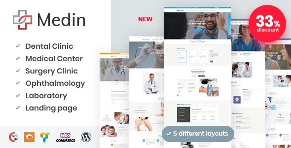 Download Medin v1.6.1 - Medical Center WordPress Theme