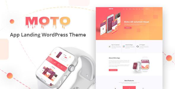 Download Moto v1.1.6 – WordPress Landing Page Theme