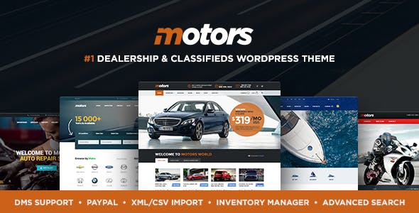Download Motors v4.7 - Automotive, Cars, Vehicle, Boat Dealership