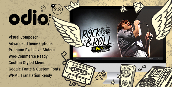 Download Odio v4.0 – Music WP Theme For Bands, Clubs, and Musicians